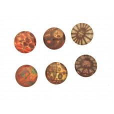 Cabochons Vintage Blumen, 5er Mix, 14mm, SALE %