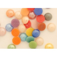 Cabochons pearlized, 10er Mix, 7mm