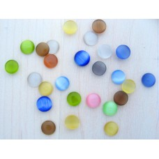 10 Cabochons, Cateye, 6mm