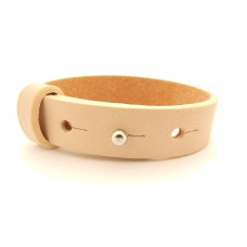 Cuoio Armband, 15mm, creme