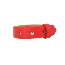 Cuoio Armband, 15mm, rot