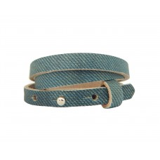 Cuoio Armband, 8mm, dreifach, denim blue