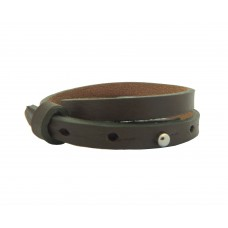 Cuoio Armband, 8mm, doppelt, dark army green