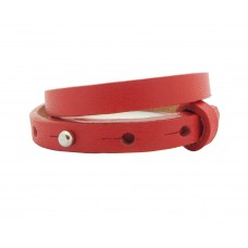 Cuoio Armband, 8mm, doppelt, rot